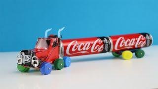 Wie baut man einen LKW aus Coca Cola Dosen der fahren kann?