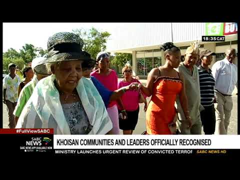Khoisan Communities And Leaders Officially Recognised