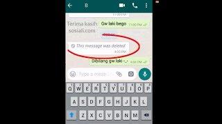 Cara Menghapus Pesan Whatsapp yang Sudah Telanjur Terkirim