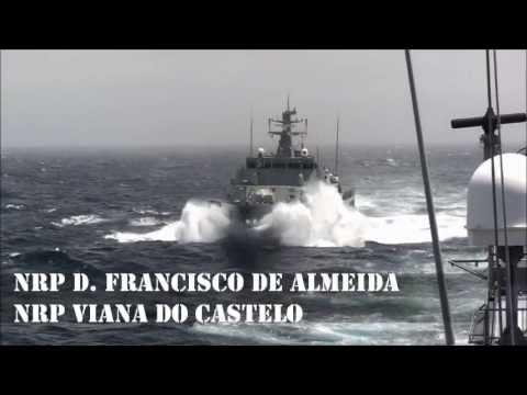 NRP Viana do Castelo - Reabastecimento no Mar