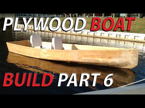 HomeMade plywood boat part 6  -  FLOAT TEST