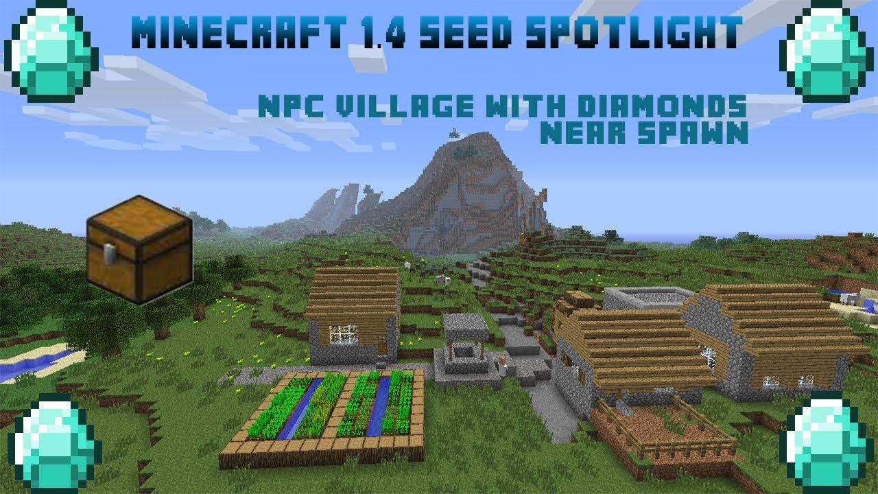 Minecraft 1 5 2 seed npc village near spawn w 5 diamonds in chest