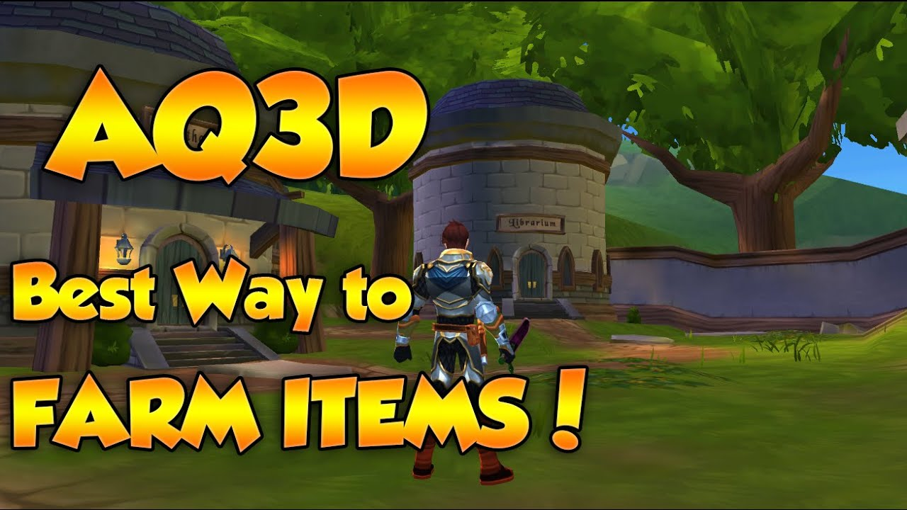 [OLD]AQ3D - Best Way to Gold Farm, Level Up, & Best Items in Game!