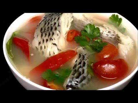 วิธีทำต้มยำปลานิล Tom Yum Tilapia Fish (Thai fish soup recipe) | Tom Yum Soup