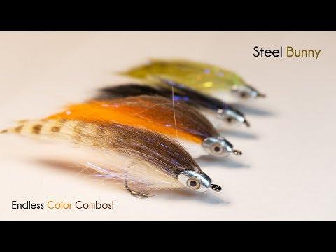 Steel Bunny - UNDERWATER FOOTAGE - Baitfish Streamer - McFly Angler Fly Tying Tutorials
