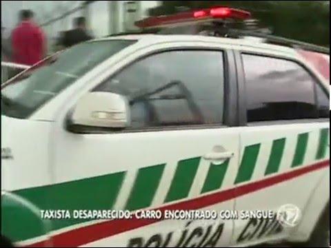 Corpo de taxista desaparecido é encontrado