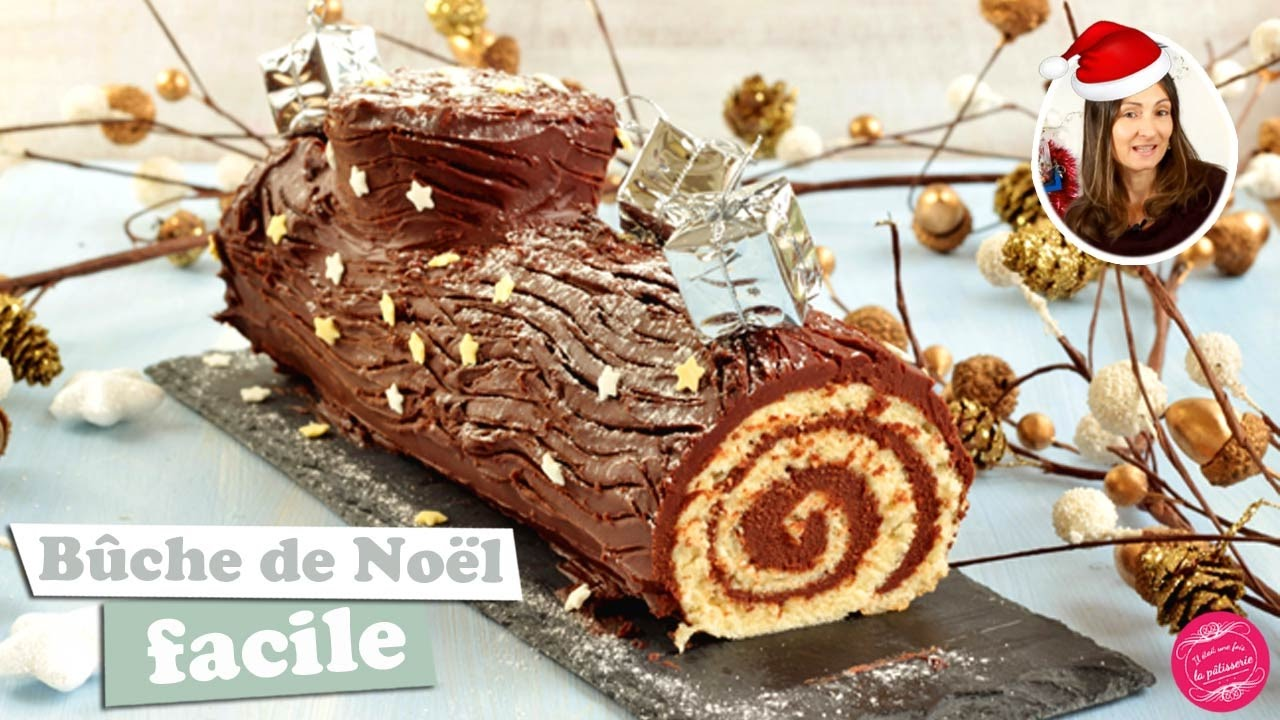 Idee Dessert Noel Chocolate Rolled Christmas Log Easy And Fast
