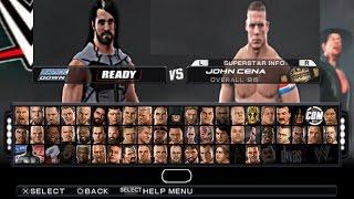 WWE 2K17 PRÉVIA 2 SETH ROLLINS VS JOHN CENA PSP - PPSSPP