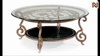 Bernhardt Zambrano Round Cocktail Table Base And Glass Top 582-015