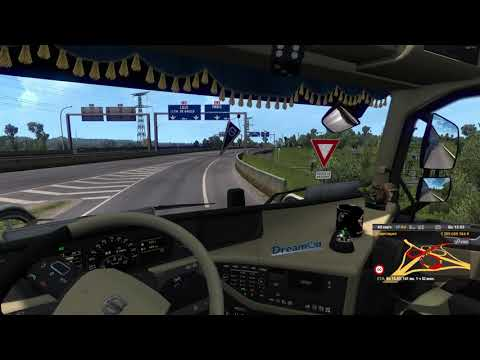 Испытываю самодельный инерционный трекер в Euro Truck Simulator 2