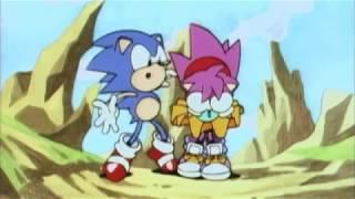 Sonic CD - états-unis d'Intro et le Bien & le Mal se terminer avec Cartoon SFX
