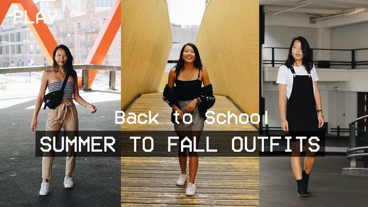 BACK TO SCHOOL OUTFITS | Summer to Fall Lookbook 2018 ft. Jessica Xia