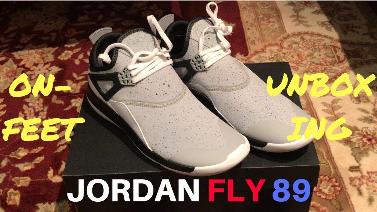0bfc233d7e8a JORDAN FLY 89 ON-FEET+UNBOXING - YouTube