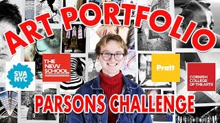 Art School Portfolio + Website Walkthrough (Parsons Challenge) & Scholarships