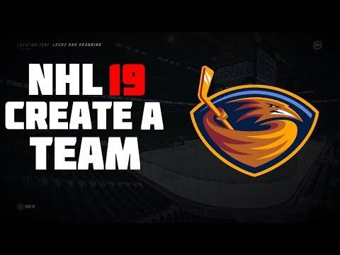 NHL 19 Create A Team: Atlanta Thrashers