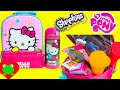 Lunch Box Surprises Hello Kitty Lunch Bag filled with Surprises like Shopkins