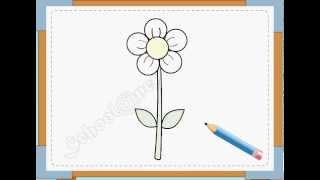 BÉ HỌA SĨ - Thực hành tập vẽ 13: Vẽ hoa