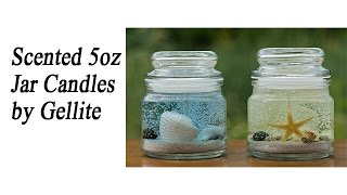 Scented Candles by Gellite Scented Gel Candles 5oz Size