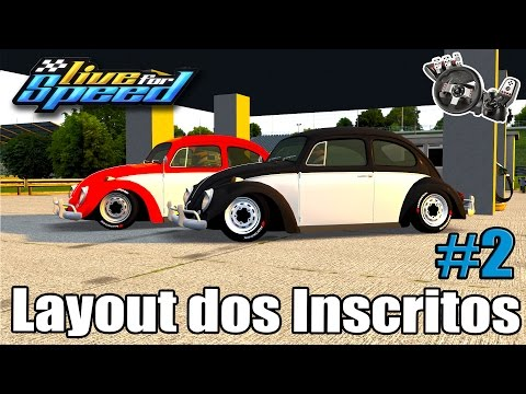 Live For Speed - Fusca AP 1.8 - Layout dos Inscritos #2 (G27 mod)