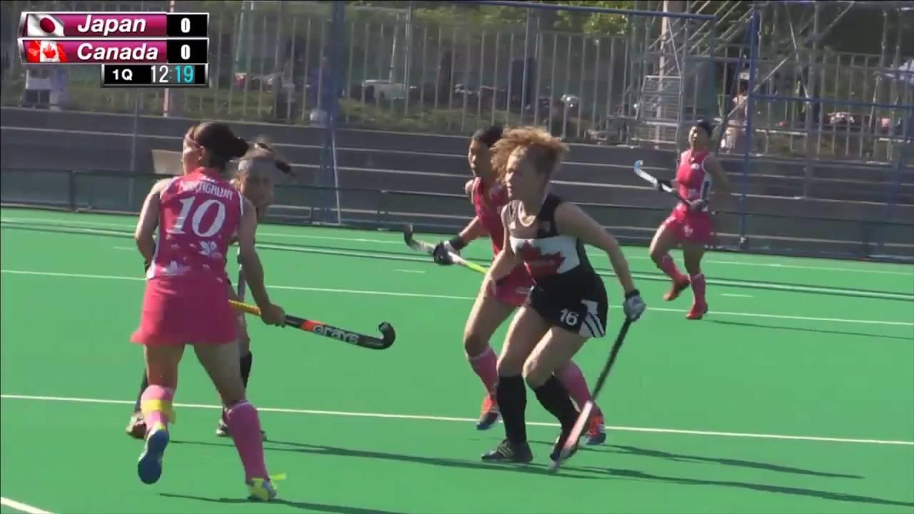 2016.6.28 女子ホッケー「さくらジャパン」 vs カナダ代表 親善 ...