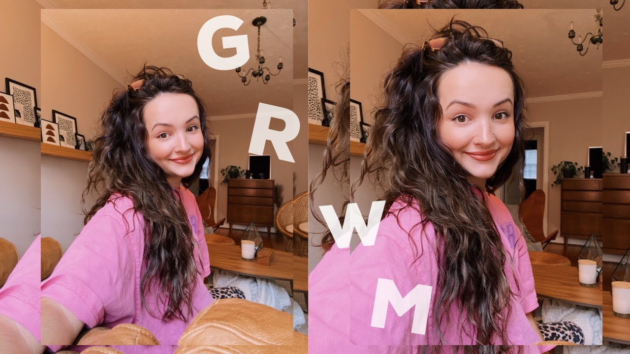 GRWM My Simple Everyday Makeup Routine and  My New Wavy Hair Routine Sneak Peak