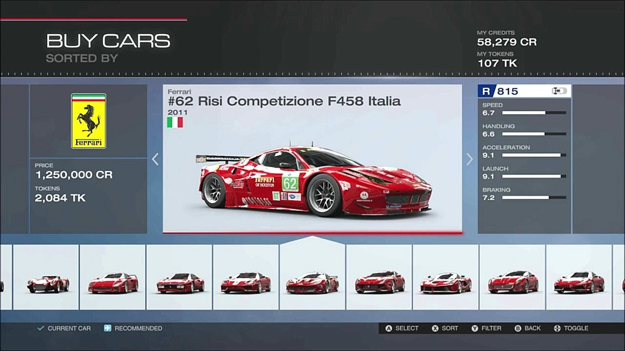 Forza 5 Full Car List 223 Cars +DLC with Gameplay - YouTube