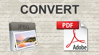 Convert JPEG to PDF 2015