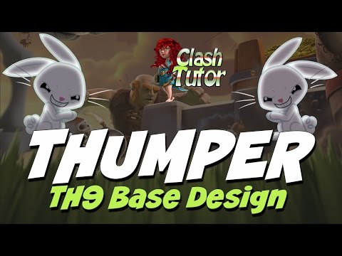 Clash Of Clans TH9 Base Design Thumper