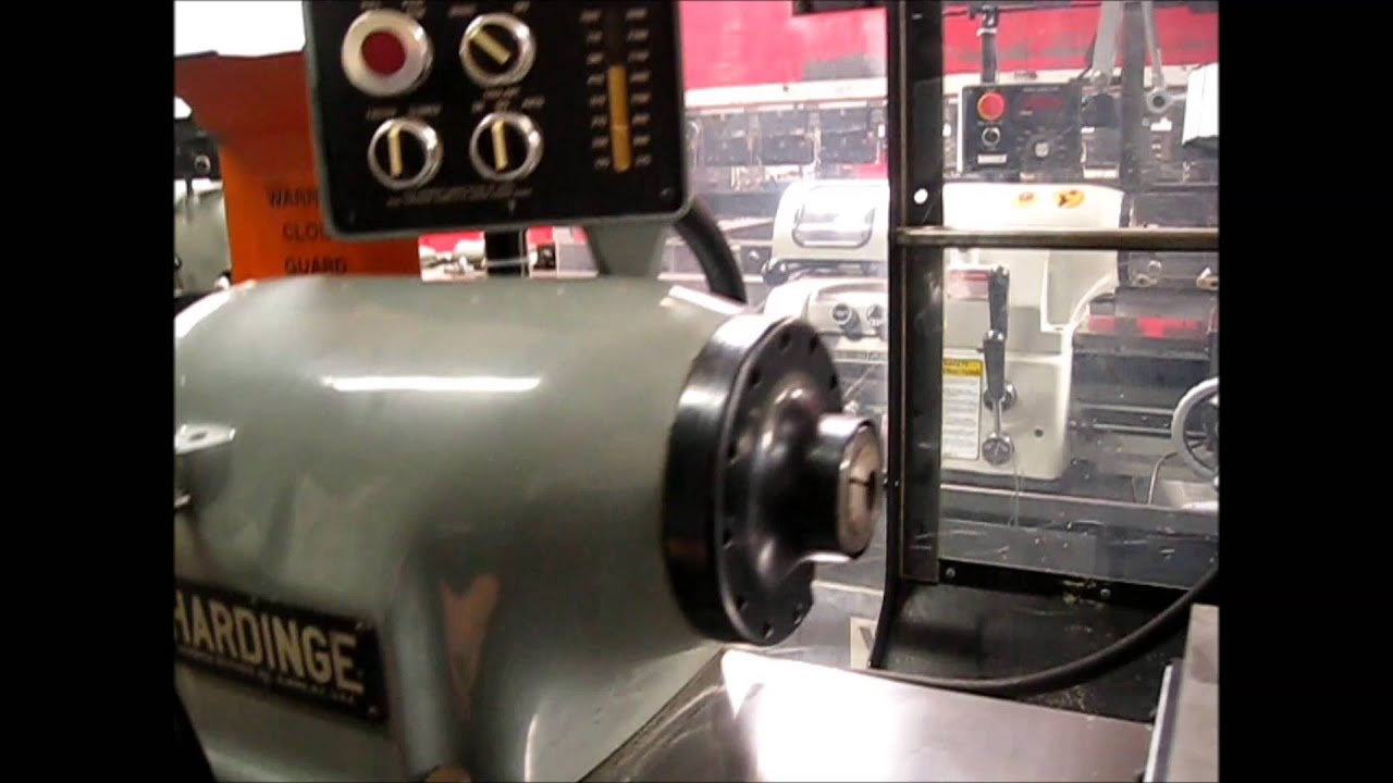 Gorgeous Hardinge Hlv-h-em English Metric Toolroom Lathe Under Power  U0026 For Sale