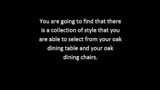 Oak Dining Room Furniture Tips | Dining Room Furniture Sets Guide