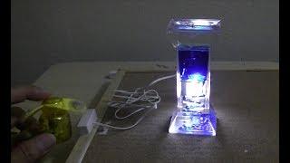 磁石で点滅するLEDライトとファンでストロボライトを作ってみました。
