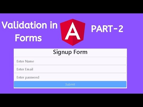 Validation in Forms | Form State | Template Driven Approach | Angular Tutorials thumbnail