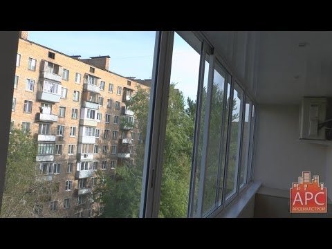 Технология ремонта и остекления балкона алюминиевыми окнами Provedal