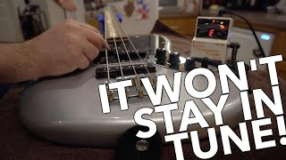How To Intonate a Guitar - Fender Squire Jaguar Bass