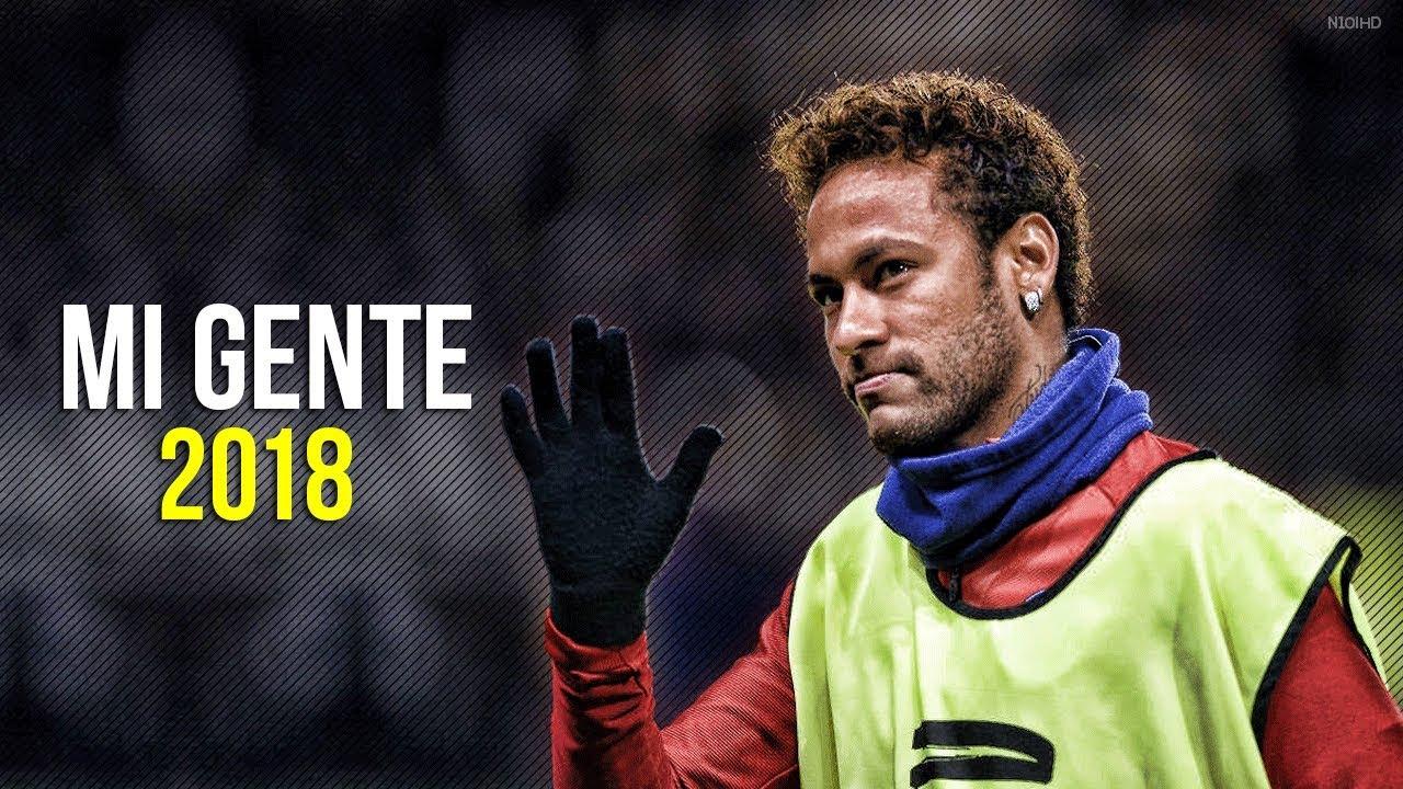 Neymar Jr Mi Gente Skills & Goals 2017-2018 HD
