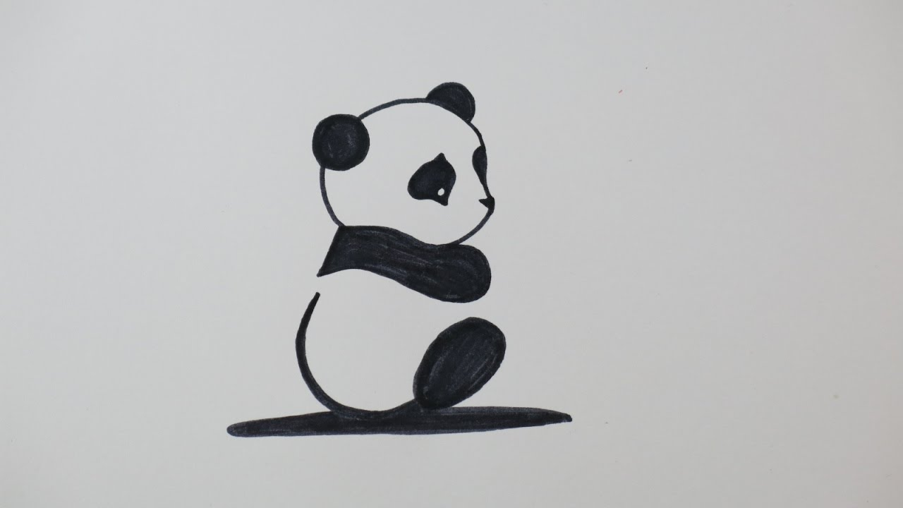 diy drawing a cute panda fun drawings for kids - Fun Drawings For Kids