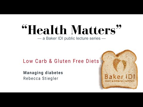 "Managing diabetes | ""Health Matters"" Low carb and gluten free diets 