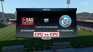 Guingamp - Strasbourg [FIFA 17] | Ligue 1 Conforama 2017-2018 (4ème Journée) | IA Vs. IA