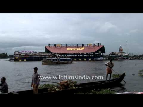 Scenic view of  Alleppey: the Venice of the East