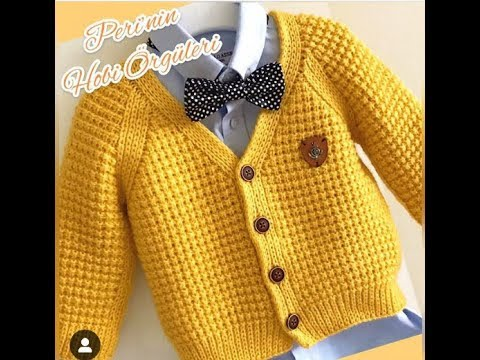 Вязание спицами для мальчиков 2 года свитер