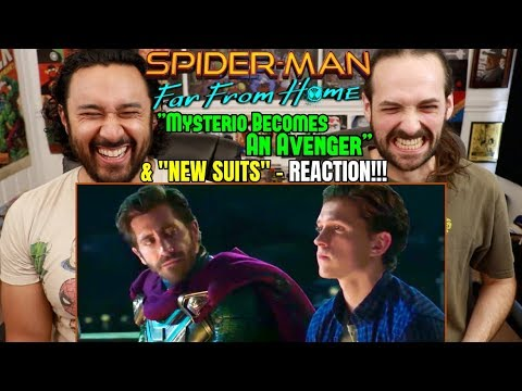 SPIDER MAN: FAR FROM HOME | Mysterio Becomes An Avenger CLIP & New Suits SPOT | REACTIONS!!!