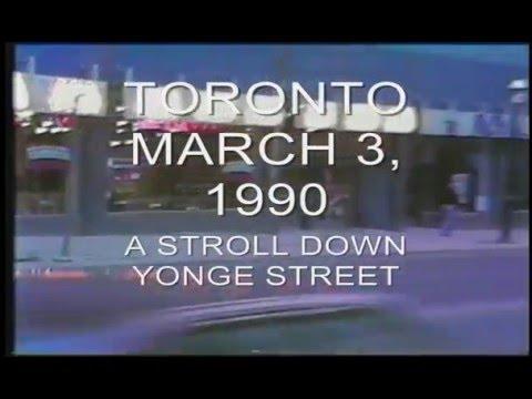 TORONTO - MARCH 3, 1990... A stroll down Yonge Street