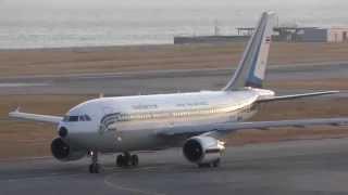 【4K】 関西空港 タイ空軍機 離陸 2015.02.10 ROYAL THAI AIR FORCE
