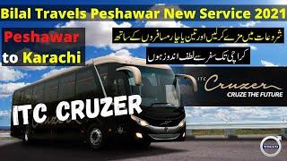 Bilal Travles itc cruzer bus service review 2021   Peshawar to Karachi