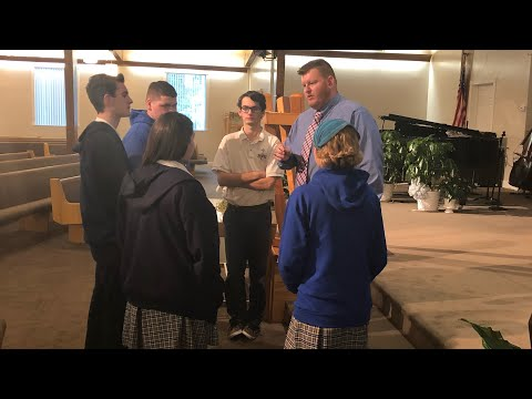 Dr. Robert Potthoff Preaching to the Youth of Ruskin Christian School