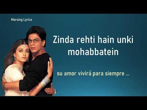Zinda Rehti Hain Mohabbatein Song | Mohabbatein | Shah Rukh Khan, Aishwarya Rai | Lata Mangeshkar