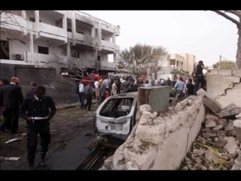 Car bomb hits diplomatic security building in Libyan capital a report