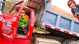 Axel Drives a Dump Truck