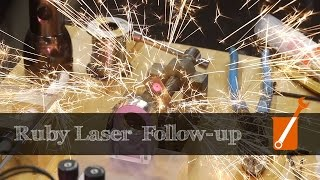 Ruby laser (and other projects) follow-up