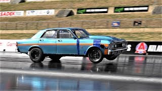 DANDY ENGINES PRO LINE RACING FUELTECH PROFAB RADIAL TURBO FALCON 6.78 @ 216 MPH